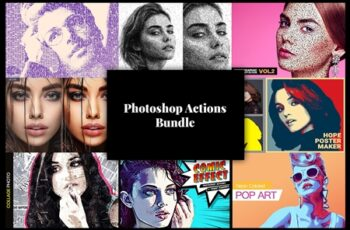 Photoshop Actions Bundle 8 in 1 3755796 5