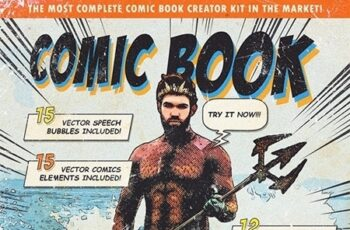 Retro Comic Book Photoshop Action Kit 24379894 5