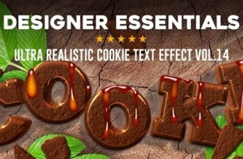 Designer Essentials Ultra Realistic Cookie Text Effect Vol.14 21072309 3