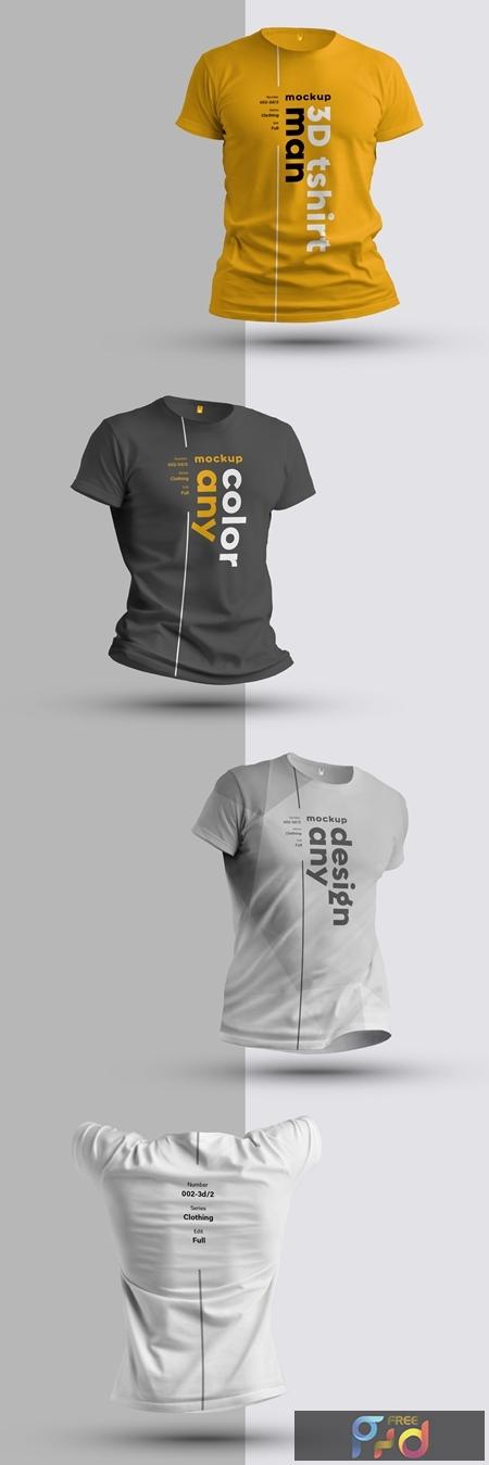 4 3D T-Shirt Mockups 279378561 1