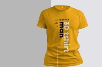4 3D T-Shirt Mockups 279378561 3