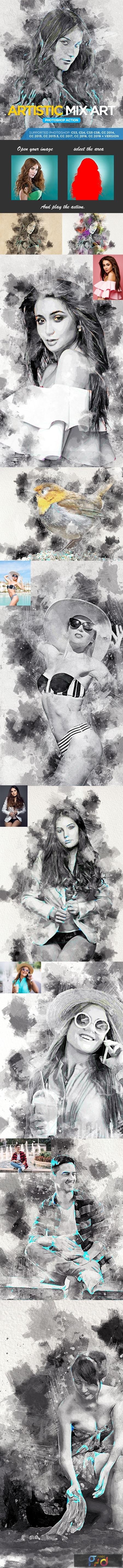 Artistic Mix Art Photoshop Action 22907668 1
