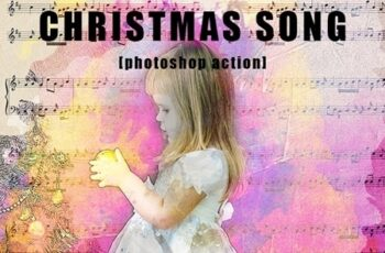 Christmas Song Photoshop Action 21141296 3