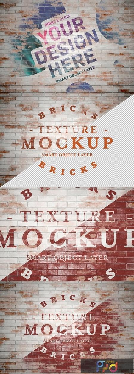 Grunge Washed Brick Texture Mockup 283964082 1