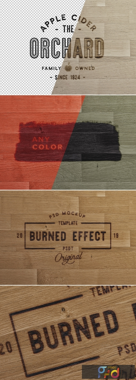 Wooden Surface with Burn Effect Mockup 283568254 1