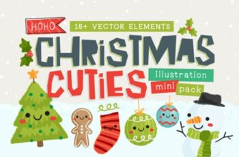 Christmas Cuties Illustration Mini-Pack 1816747 6