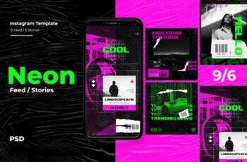 Neon Instagram Templates 1816705 2
