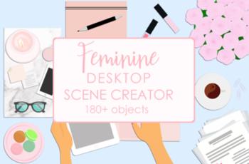 Feminine Desktop Scene Creator 1823844 5
