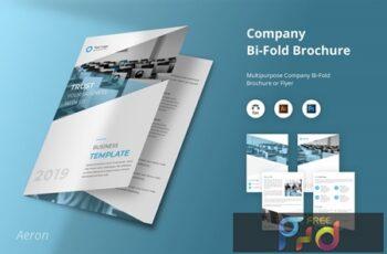 Aeron - Company Bi-Fold Brochure Flyer Template LAKX4QE 6