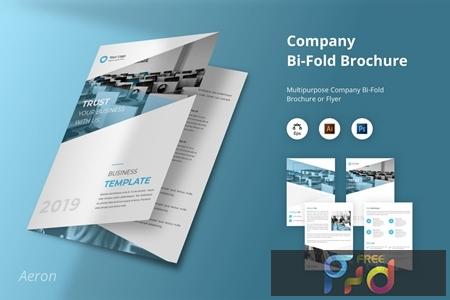 Aeron - Company Bi-Fold Brochure Flyer Template LAKX4QE 1