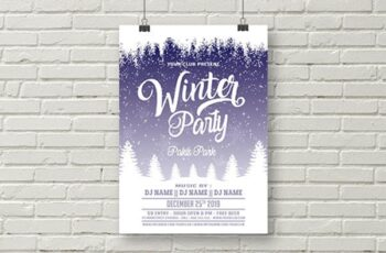Winter Party Flyer Template 1823575 5