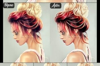 Realistic Vector Painting Photoshop Action 24510257 4