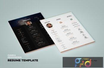 Creative Resume, vCard, CV & Portfolio Template CB85PHA 2