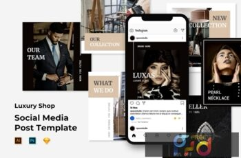 Luxury Shop - Instagram Post Feed Templates YQPTEJU 5