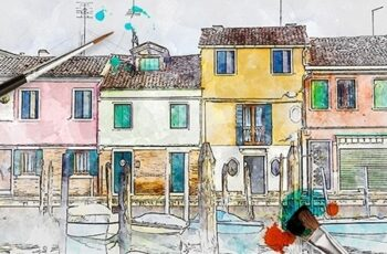 Artist Watercolor Paint PS Action 24655555 2