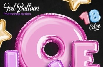 Foil Balloon - Photoshop Action 24715797 3