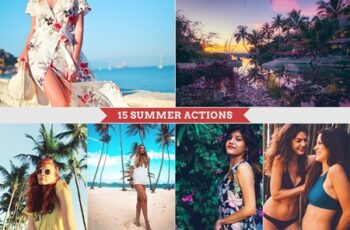 Summer Photoshop Actions 3846427