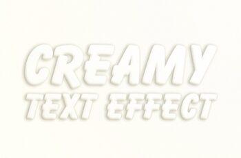 White Creamy Text Effect 280086508 3