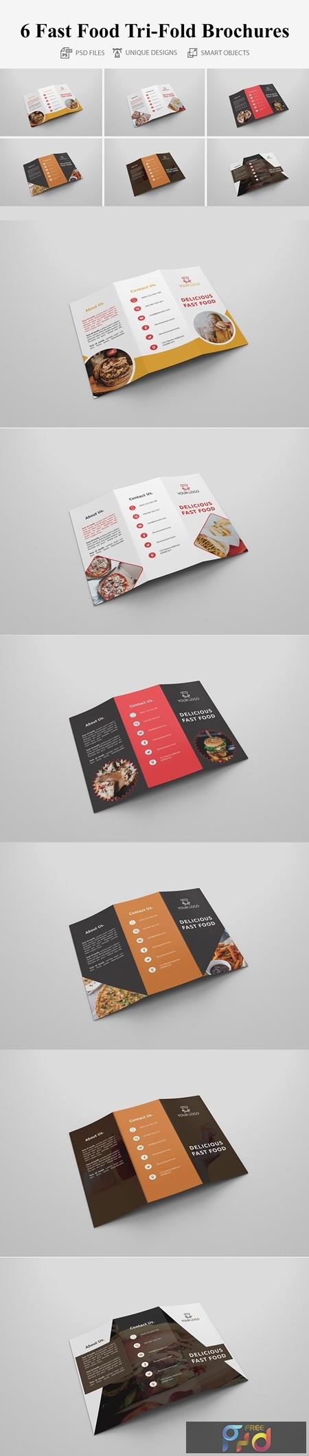 6 Fast Food Tri-fold Brochures 4160653 1