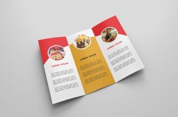 6 Fast Food Tri-fold Brochures 4160653 5