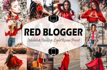 Red Blogger Mobile & Desktop Lightroom 1823596 7