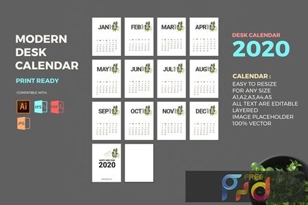 Modern 2020 Desk Calendar Pro 9ERMNWH 1