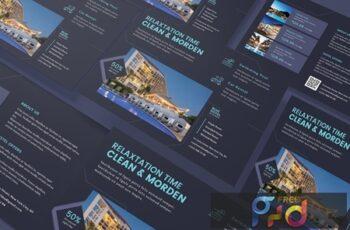 Hotel Horizontal A5 Business Poster Flyer Business Card Brochure Bifold Trifold EDF6KZT 4