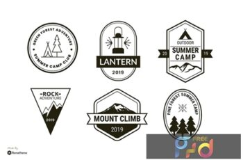 Set of Camping and Adventure Logo Badge RB HZS3UB9 10