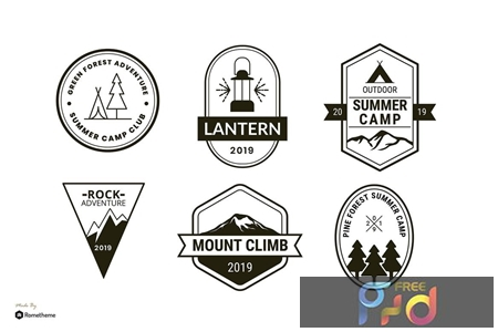 Set of Camping and Adventure Logo Badge RB HZS3UB9 1