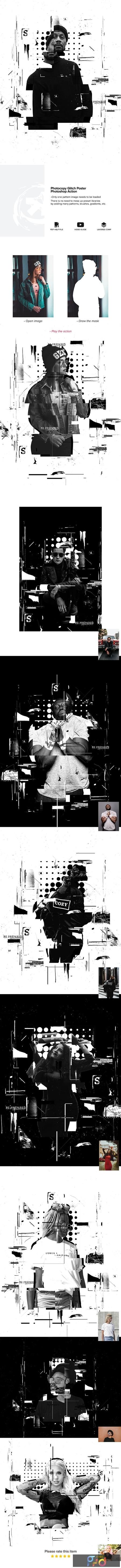 Photocopy Glitch Poster Photoshop Action 24748010 1