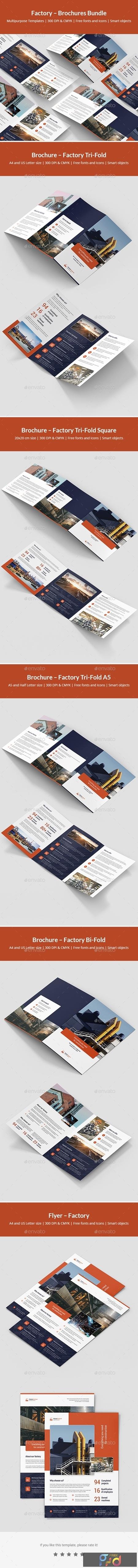 Factory – Brochures Bundle Print Templates 5 in 1 24716470 1