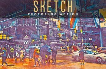 Urban Sketch Photoshop Action 24634764 3