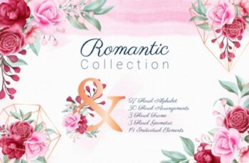 Romantic Watercolor Flowers Collection 1831332 5