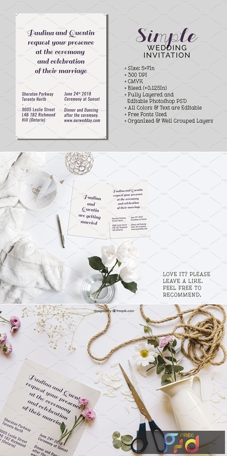 Simple Wedding Invitation 2577302 1