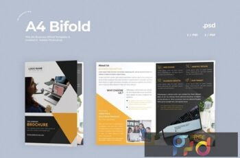 Business Bifold Brochure RE4QY2S 4