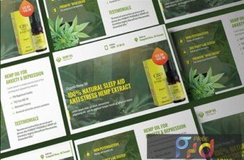 Cannabis Hemp Oil Products Post Card KE2JBD6 4