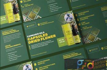 Cannabis Hemp Oil Products Post Card C3VTFXR 5