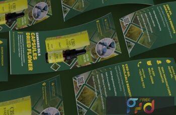 Cannabis Hemp Oil Products DL Rackcard 5P82BK3 4