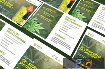 Cannabis Hemp Oil Products A5 Business Flyer E9D7QSL 5