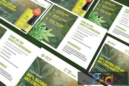 Cannabis Hemp Oil Products A5 Business Flyer E9D7QSL 1