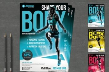 Fitness Flyer Layout 239874933 6