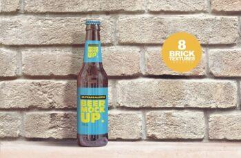 Brick Backgrounds Beer Mockup 4180456 5