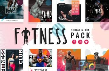 Fitness & Gym Social Media Templates LTA9NJP 4