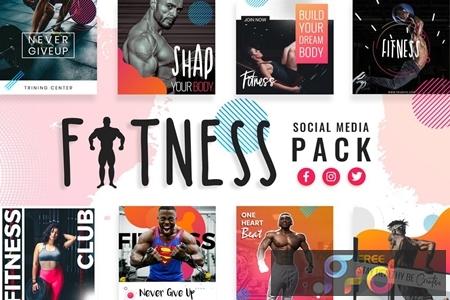 Fitness & Gym Social Media Templates LTA9NJP 1