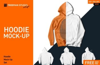Hoodie Mock-Up Set 4126157 4