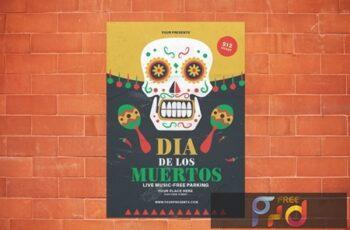 Dia De Los Muertos Flyer XF7Z2HD 4
