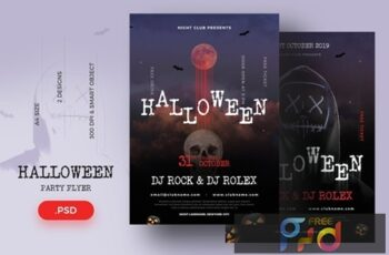 Halloween flyer template 6GSFKBL 6
