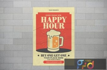 Happy Hour With Illustration Beer RPEXYWJ 3