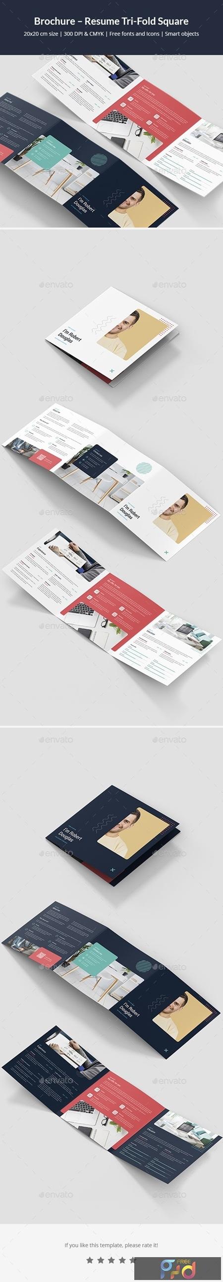 Brochure – Resume Tri-Fold Square 24770880 1