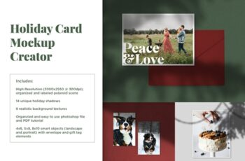 Holiday Card Mockup Creator 4182608 7